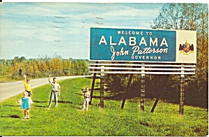 Welcome To Alabama Highway Sign P37439
