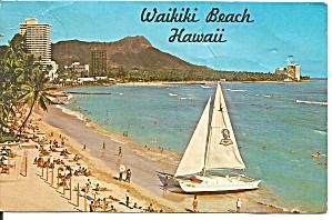 Oahu HI Waikiki Beach Diamond Head p37442 (Image1)
