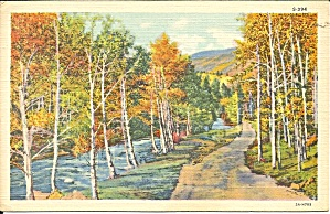 Authumn River Scene Linen Card p37450 (Image1)