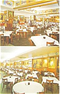 Haussner s Restaurant Interior Postcard p3748 (Image1)