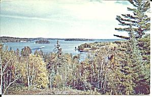 Blue Water Lake Scene postcard p37495 (Image1)