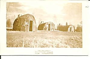Salem Ma Pioneer Village English Wigwams Rppc P37577