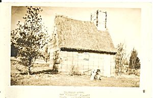 Salem Ma Pioneer Village Thatched House Rppc P37588