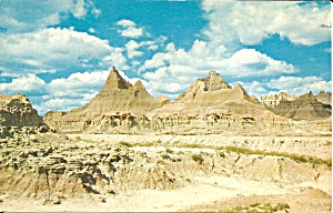 Badlands National Park Sd Road To Cedar Pass Lodge P37616