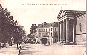 Perigeux France Palace Of Justice And Boulevard P37753