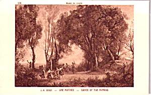 Louve Paris J B Corot Dance of the Nymphs Postcard P37759 (Image1)