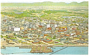 General Aerial View of San Diego CA Postcard (Image1)
