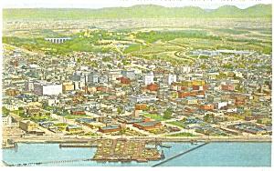 General Aerial View of San Diego CA Postcard p3778 (Image1)