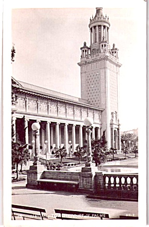 Italian Tower And Court Of Palms 1915 World Panama Pacfic Exposition P37885