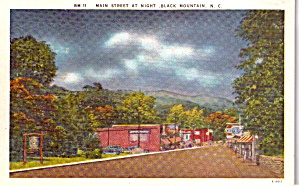 Black Mountain NC Main Street at Night p37899 (Image1)