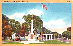 Ocean Grove Nj Broadway Park Postcard P37900
