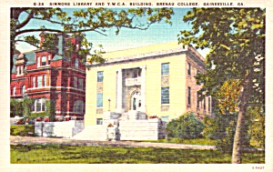 Gainsville Ga Brenau College Simmons Library Ywca Postcard P37910