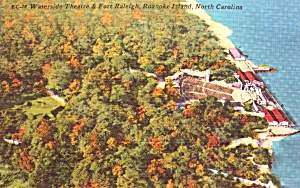 Roanoke Island NC Waterside Theatre Fort Raleigh  Postcard p37911 (Image1)