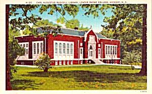 Hickory NC Lenoir Rhyne College Rudisill Library Postcard p37913 (Image1)