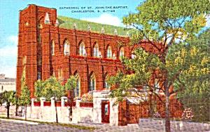 Charleston SC Cathedral of St John Baptist Postcard p37922 (Image1)