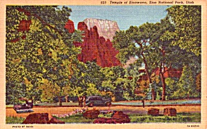 Zion National Park Ut Temple Of Sinawava Postcard P37923