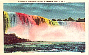 Niagara Falls Ny Horseshoe Falls By Illumination Postcard P37927