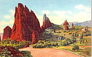 Pikes Peak Region Co Garden Of The Gods Postcard P37930