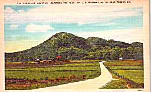 Toccoa GA Currahee Mountain US Highway123 Postcard p37935 (Image1)