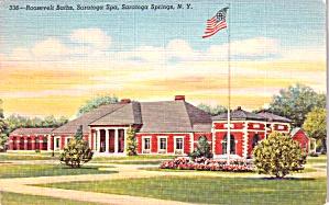Saratoga Springs NY Roosevelt Baths Saratoga Spa Postcard p37936 (Image1)