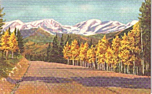 Rocky Mountain National Park Co The Mummy Range Postcard P37941