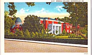 Gainsville GA Breanau College Postcard p37942 (Image1)