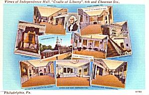 Philadelphia PA Views of Independence Hall Postcard p37943 (Image1)
