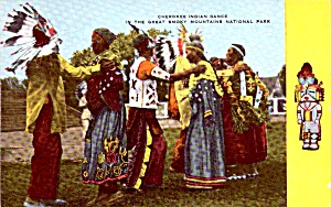 Great Smoky Mountains National Park Cherokee Dance Postcard P37955