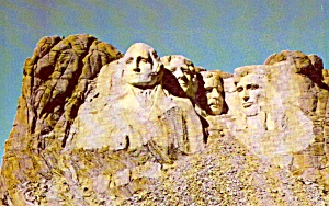 Black Hills Sd Rushmore National Memorial Postcard P37956