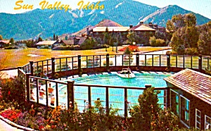 Sun Valley Idaho Challenger Inn Pool Mt Baldy P37989   (Image1)