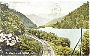 French Broad River RR Track Scene Postcard p3799 (Image1)