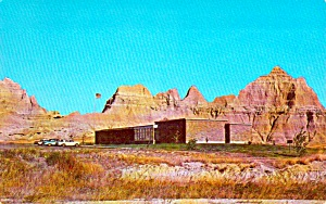 Badlands National Monument Sd Visitor Center Postcard P38002