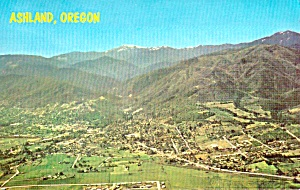 Ashland Oregon Aeriel View Postcard P38004