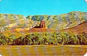 Red Pillar Near Entrance to  Shoshone Canyon Wyoming P38015 (Image1)