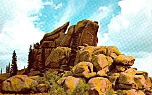 Rocks of Woo  Between Laramie and Cheyenne WY P38031 (Image1)