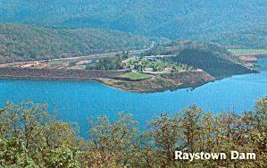 Ratstown Dam On Raystown Branch Of Juniata River P38040