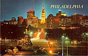 Benjamin Franklin Parkway Philadelphia PA at Night P38166 (Image1)