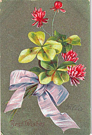 Best Wishes Floral Bouquet Postcard ca 1907P38187 (Image1)