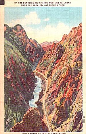 Gore Canyon CO Denver  Grand Western RR P38210 (Image1)