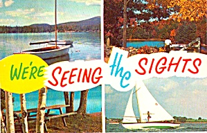 Sailboats Lakes Picnic Area Postcard P38242
