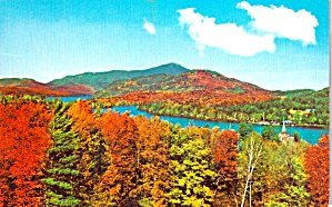 Lake Placid New York With Fall Foliage P38287