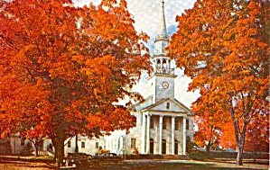 Fall Foliage Typical New England Church P38289