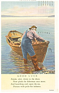The Atlantic Ocean Fisherman Postcard