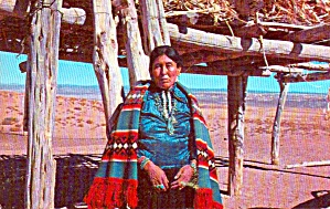 Navajo Women In Tradition Clothing P38294