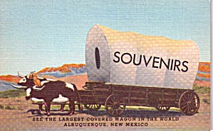 Albuquerque NM World s Largest Covered Wagon p38312 (Image1)