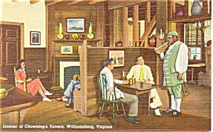 Chowning s Tavern Williamsburg VA  Postcard p3841 (Image1)