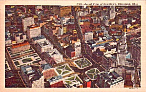 Aerial View Downtown Cleveland Oh P38436