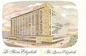 The Queen Elizabeth Hotel  Postcard (Image1)