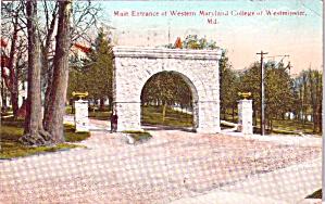 Westminster MD Entrance Western Maryland College p38453 (Image1)