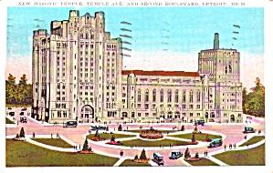 Detroit MI  Masonic Temple 2nd Boulevard p38458 (Image1)
